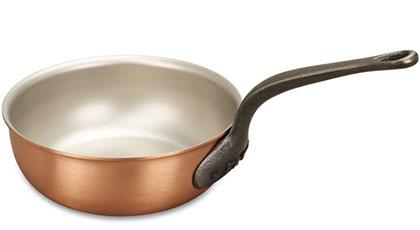 falk culinair classical 20cm copper saucier pan