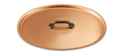falk culinair classical 30cm x 20cm oval copper lid