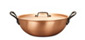 falk culinair classical 28cm loop handled copper wok